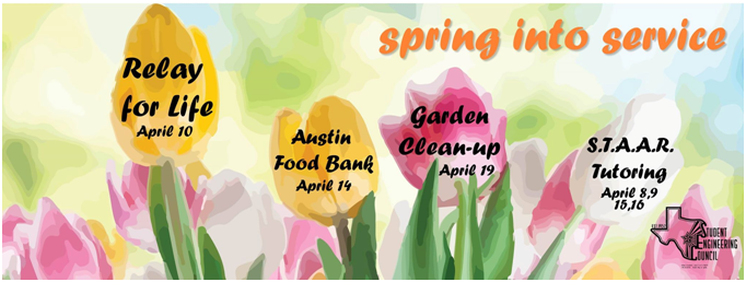 """Spring into Service"" by volunteering your time for a good cause!"
