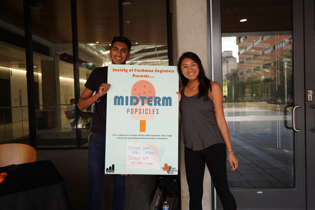 Two first-years hosting Midterm Pops to give students a break from studying!